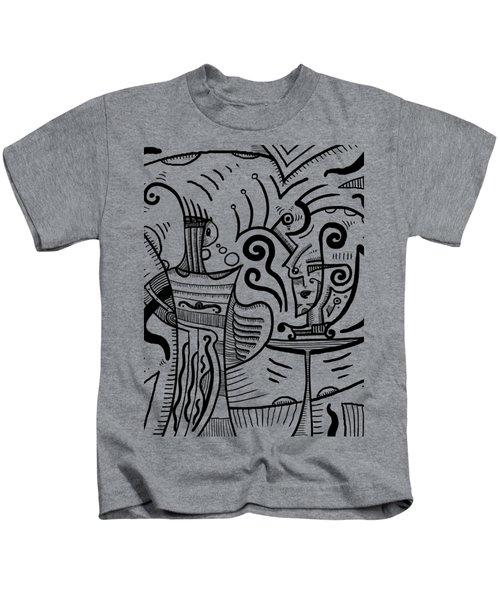 Mystical Powers Kids T-Shirt by Sotuland Art