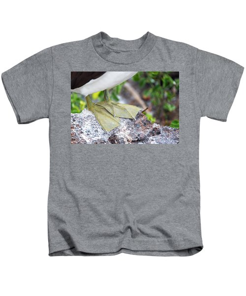 Nazca Booby Feet Kids T-Shirt by Jess Kraft