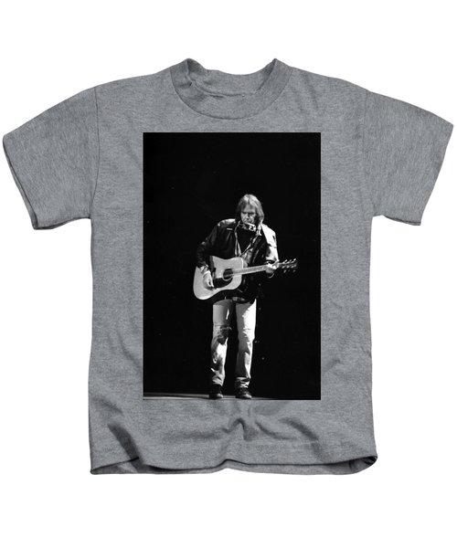 Neil Young Kids T-Shirt by Wayne Doyle