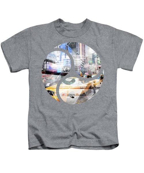 New York City Geometric Mix No. 9 Kids T-Shirt by Melanie Viola