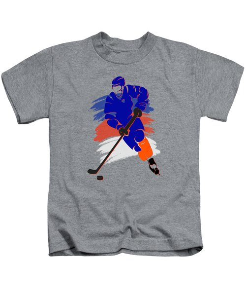 New York Islanders Player Shirt Kids T-Shirt by Joe Hamilton