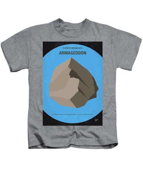No695 My Armageddon Minimal Movie Poster Kids T-Shirt by Chungkong Art