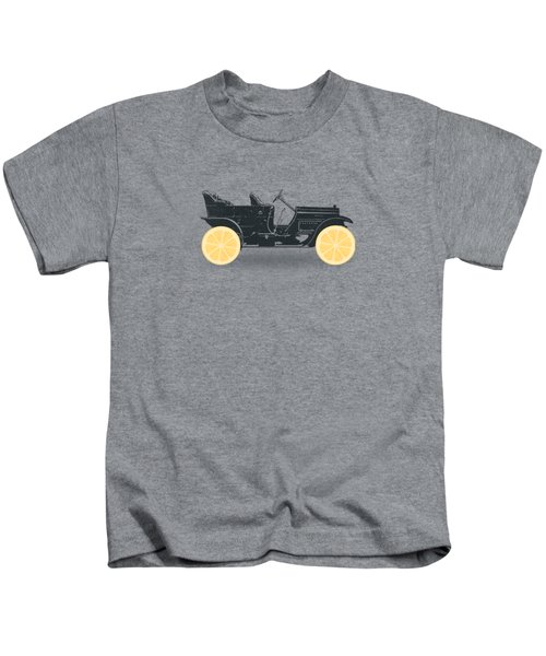 Oldtimer Historic Car With Lemon Wheels Kids T-Shirt by Philipp Rietz