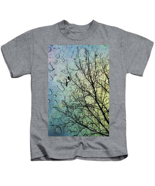 One For Sorrow Kids T-Shirt by John Edwards