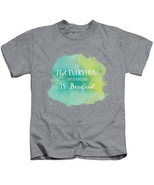 Permissible Kids T-Shirt by Nancy Ingersoll
