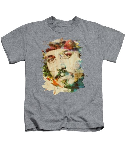 Portrait Of Johnny Kids T-Shirt by Maria Arango