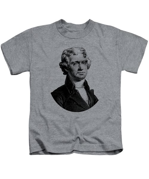 President Thomas Jefferson Graphic Kids T-Shirt by War Is Hell Store