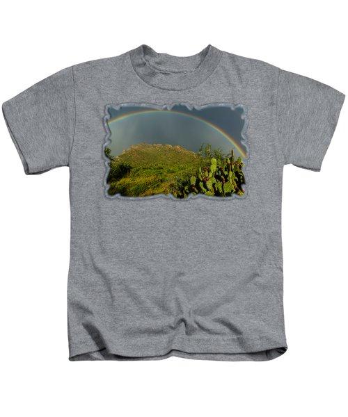 Pusch Ridge Rainbow H38 Kids T-Shirt by Mark Myhaver