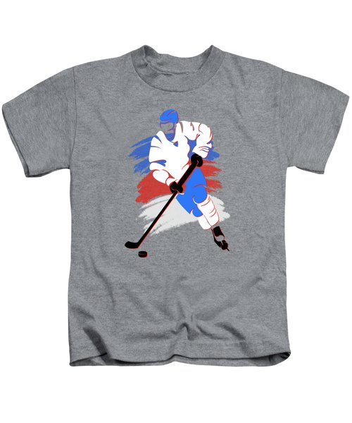 Quebec Nordiques Player Shirt Kids T-Shirt by Joe Hamilton