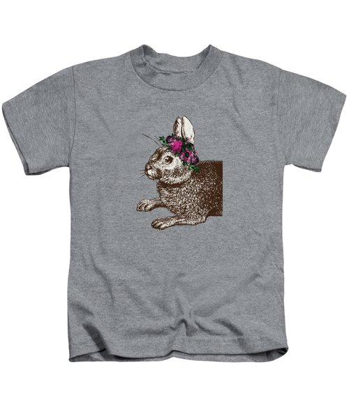 Rabbit And Roses Kids T-Shirt by Eclectic at HeART