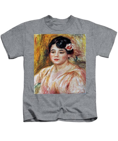 Renoir: Adele Besson, 1918 Kids T-Shirt by Granger