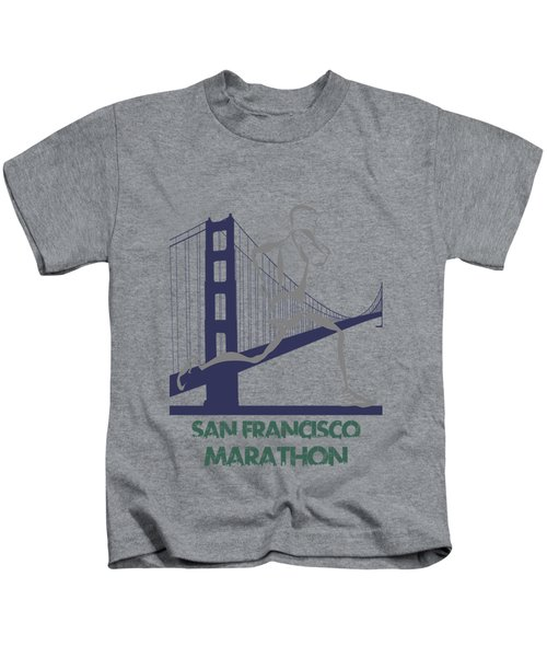 San Francisco Marathon2 Kids T-Shirt by Joe Hamilton