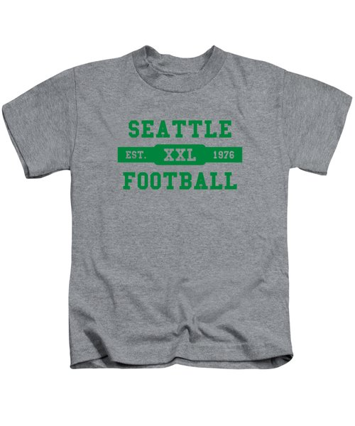 Seahawks Retro Shirt Kids T-Shirt by Joe Hamilton