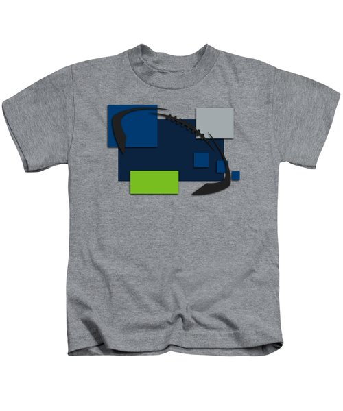 Seattle Seahawks Abstract Shirt Kids T-Shirt by Joe Hamilton