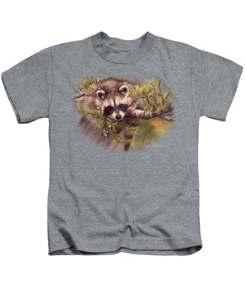 Seeking Mischief Kids T-Shirt by Lucie Bilodeau