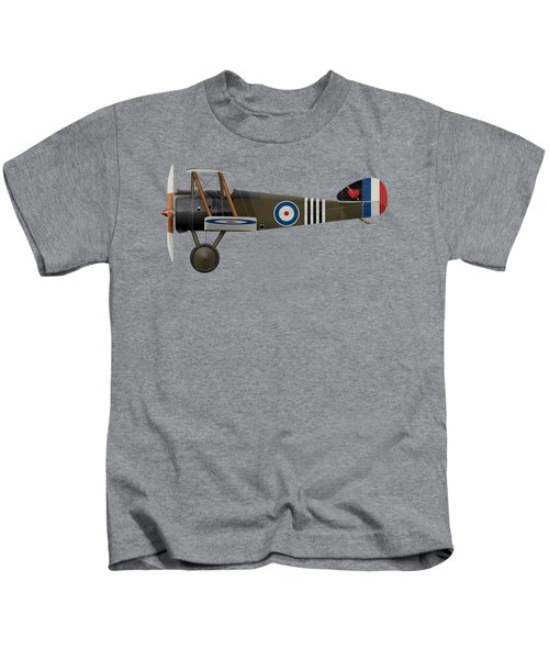 Sopwith Camel - B6313 June 1918 - Side Profile View Kids T-Shirt by Ed Jackson
