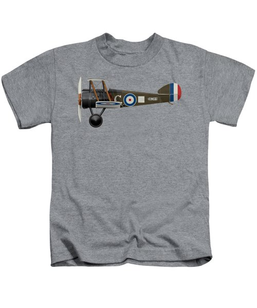Sopwith Camel - B6344 - Side Profile View Kids T-Shirt by Ed Jackson
