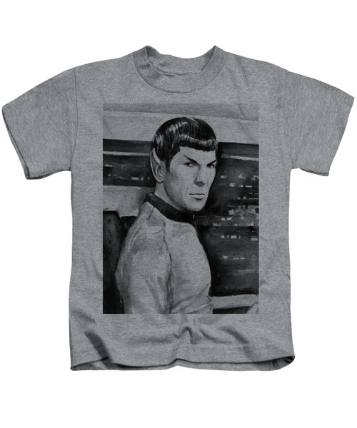 Spock Kids T-Shirt by Olga Shvartsur