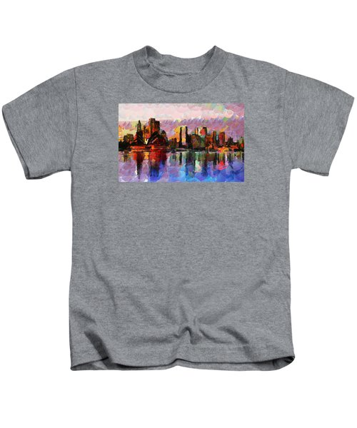 Sydney Here I Come Kids T-Shirt by Sir Josef - Social Critic - ART