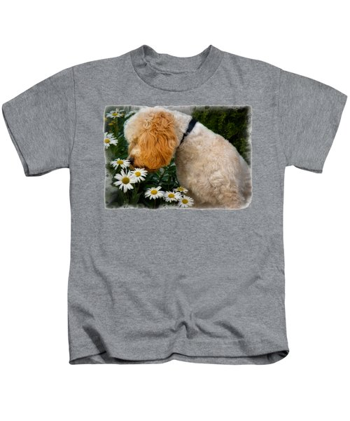 Taking Time To Smell The Flowers Kids T-Shirt by Susan Candelario