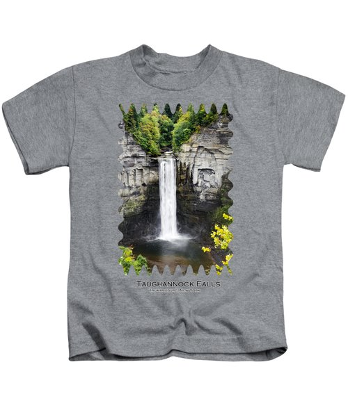 Taughannock Falls View From The Top Kids T-Shirt by Christina Rollo