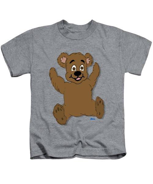 Teddy's First Portrait Kids T-Shirt by Pharris Art
