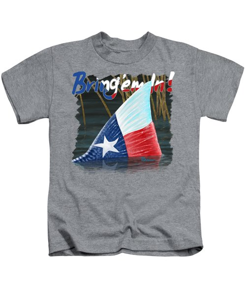 Texas Tails Kids T-Shirt by Kevin Putman