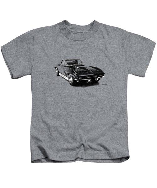 The 66 Vette Kids T-Shirt by Mark Rogan