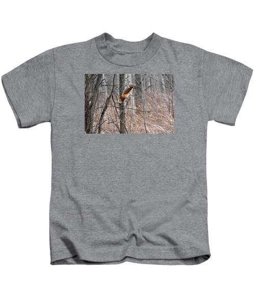 The American Woodcock In-flight Kids T-Shirt by Asbed Iskedjian
