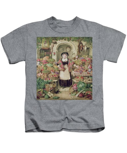 The Vegetable Stall  Kids T-Shirt by Thomas Frank Heaphy