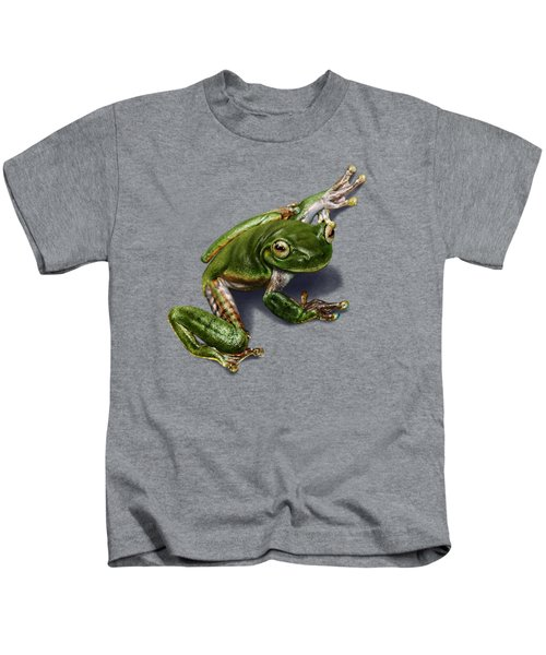 Tree Frog  Kids T-Shirt by Owen Bell