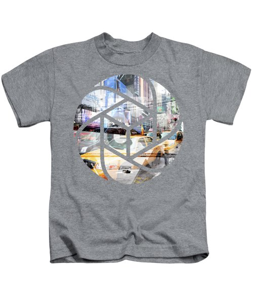 Trendy Design Nyc Geometric Mix No 9 Kids T-Shirt by Melanie Viola