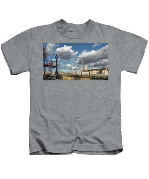 Victoria Embankment Kids T-Shirt by Adrian Evans