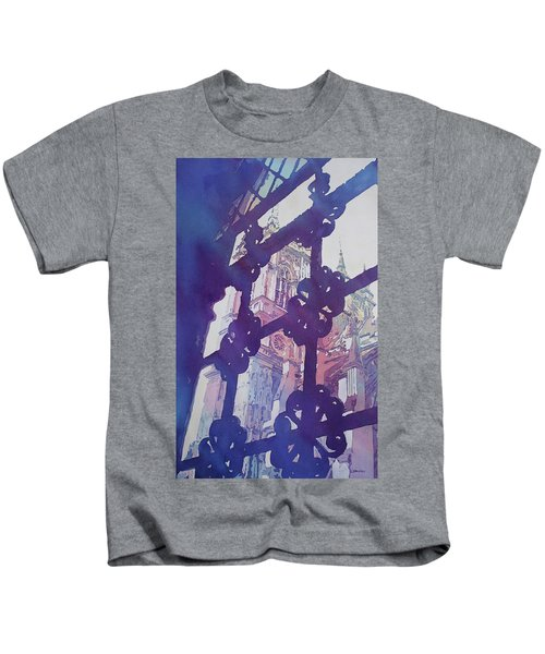 View From The Cloister Kids T-Shirt by Jenny Armitage