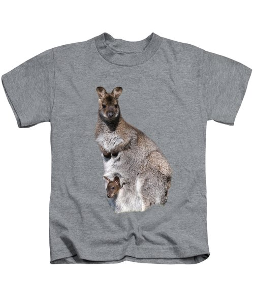 Wallaby Kids T-Shirt by Scott Carruthers