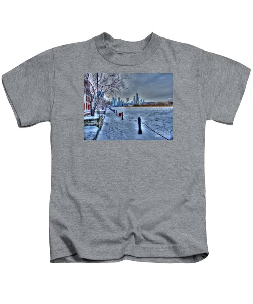 West From Navy Pier Kids T-Shirt by David Bearden