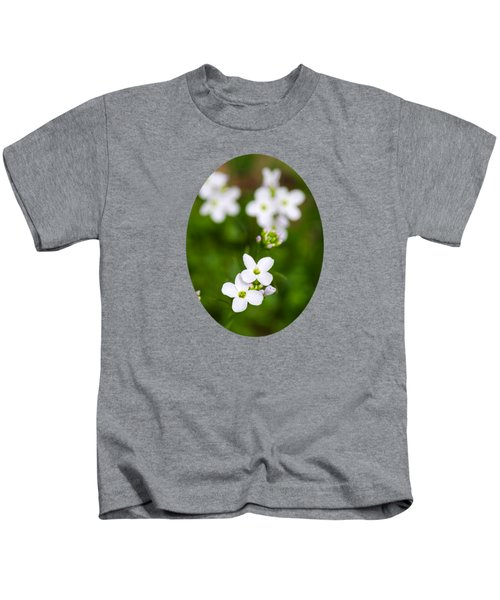 White Cuckoo Flowers Kids T-Shirt by Christina Rollo
