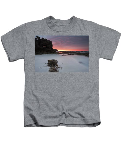 Window On Dawn Kids T-Shirt by Mike  Dawson