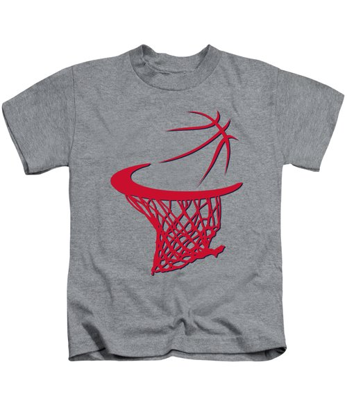 Wizards Basketball Hoop Kids T-Shirt by Joe Hamilton