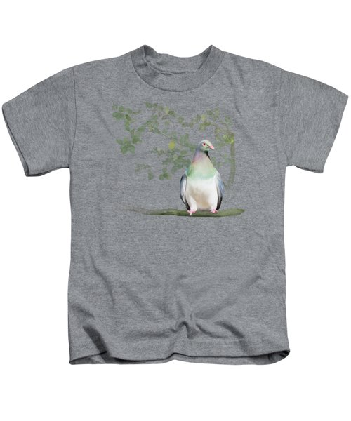 Wood Pigeon Kids T-Shirt by Ivana Westin