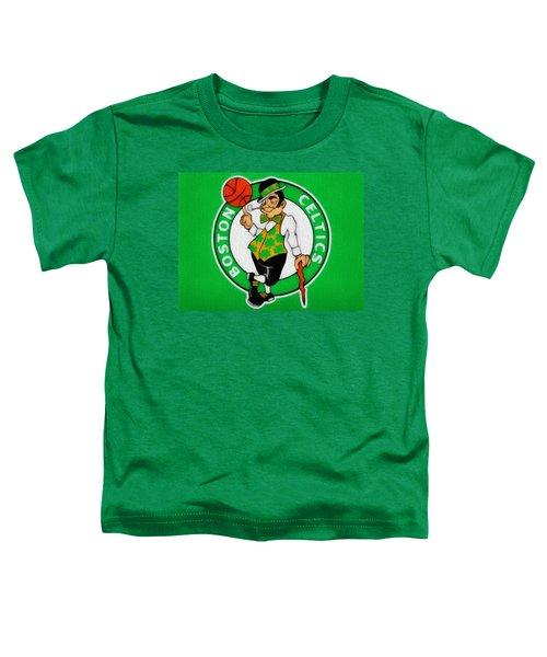 Boston Celtics Canvas Toddler T-Shirt by Dan Sproul