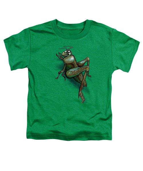 Grasshopper Toddler T-Shirt by Kevin Middleton
