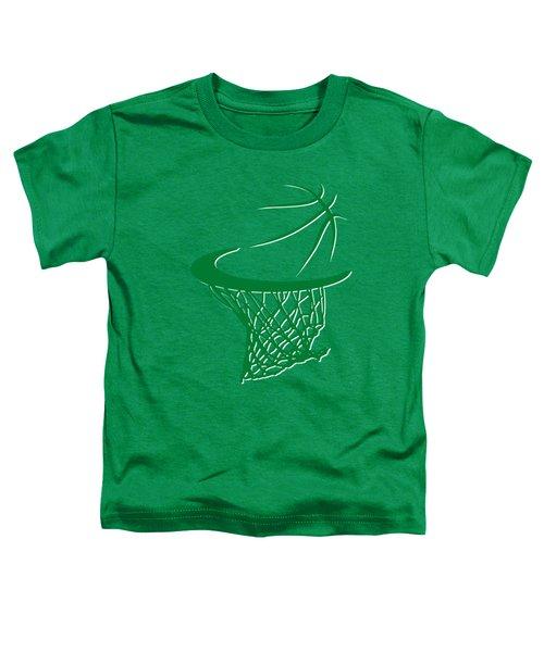 Celtics Basketball Hoop Toddler T-Shirt by Joe Hamilton
