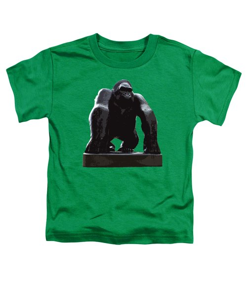 Gorilla Art Toddler T-Shirt by Francesca Mackenney