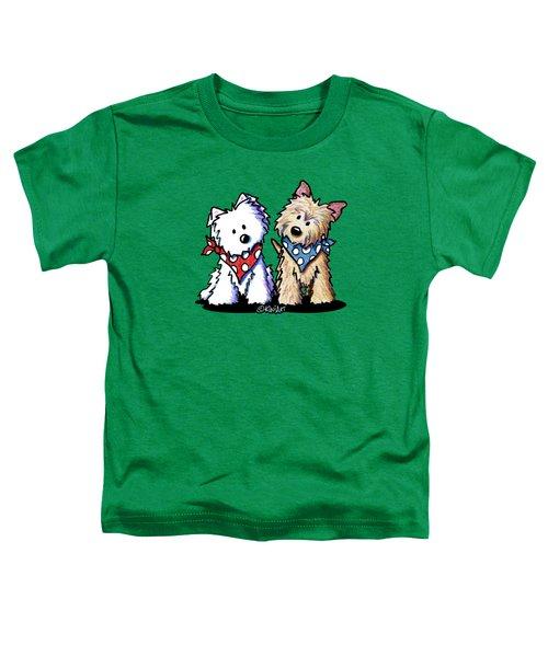 Kiniart Butch And Sundance Toddler T-Shirt by Kim Niles