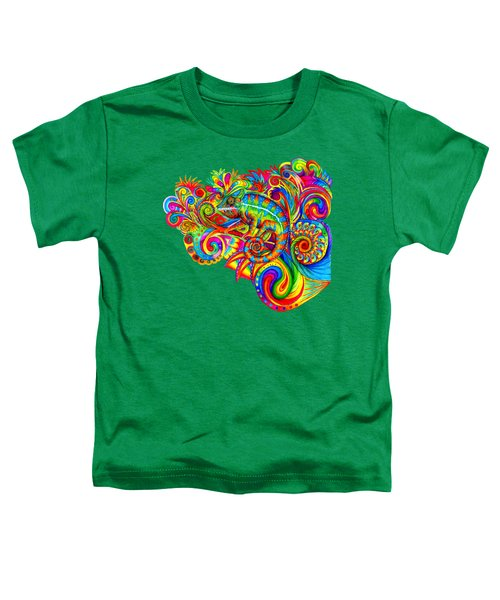 Psychedelizard Toddler T-Shirt by Rebecca Wang