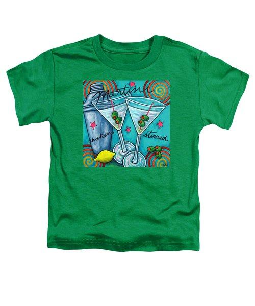 Retro Martini Toddler T-Shirt by Lisa  Lorenz