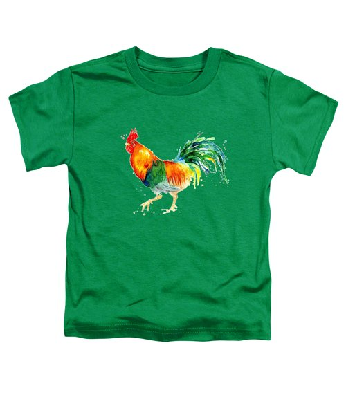 Rooster  Toddler T-Shirt by Herb Strobino