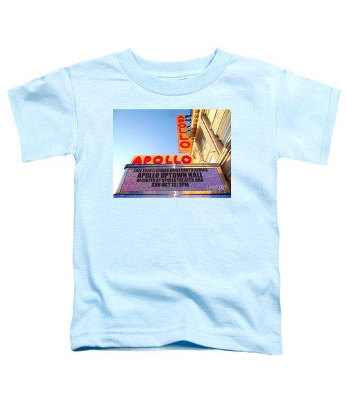 At The Apollo Toddler T-Shirt by Ed Weidman