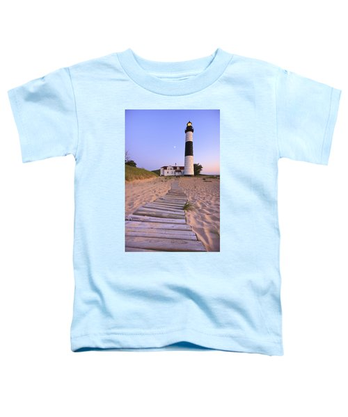 Big Sable Point Lighthouse Toddler T-Shirt by Adam Romanowicz